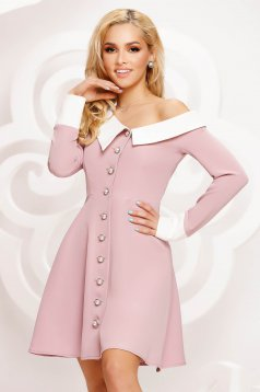Lightpink dress cloche occasional with button accessories