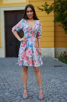 Dress short cut cloche airy fabric short sleeves