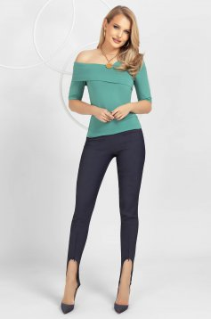 Darkblue trousers conical medium waist