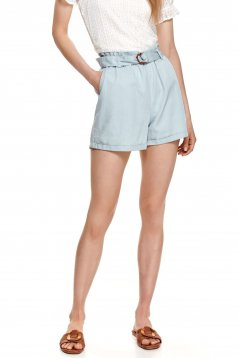 Blue short loose fit high waisted thin fabric