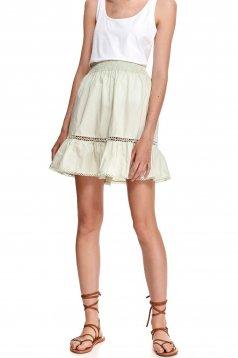 Mint skirt casual short cut cloche with elastic waist cotton