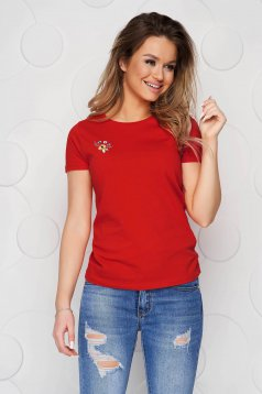 Red StarShinerS t-shirt cotton loose fit
