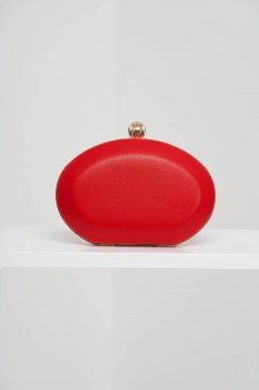 Red bag from ecological leather occasional
