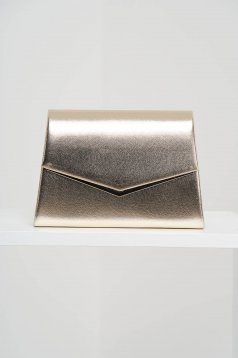 Gold bag occasional from ecological leather