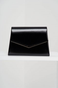 Black bag occasional from ecological leather