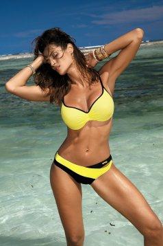 Yellow swimsuit normal bikinis