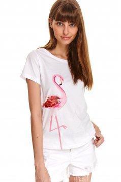 White t-shirt cotton loose fit