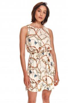 Peach dress short cut cloche airy fabric sleeveless