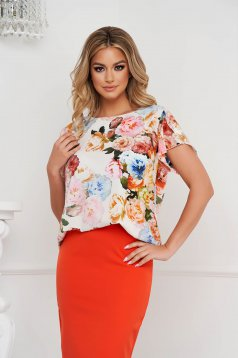 Lightpink women`s blouse loose fit soft fabric with butterfly sleeves