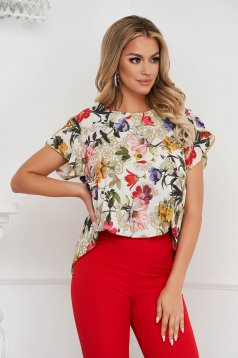 Women`s blouse loose fit soft fabric with butterfly sleeves