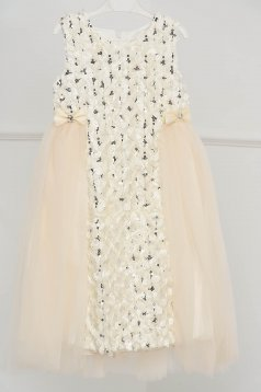Ivory dress occasional cloche from tulle with sequin embellished details