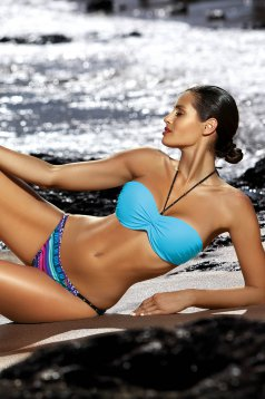 Turquoise swimsuit 2 pieces normal bikinis with push-up bra