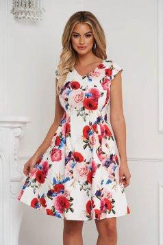 Dress elegant midi cloche slightly elastic fabric with pockets