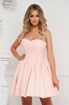 Lightpink dress short cut occasional cloche thin fabric