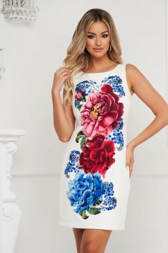 StarShinerS cloth dress short cut straight with floral print office