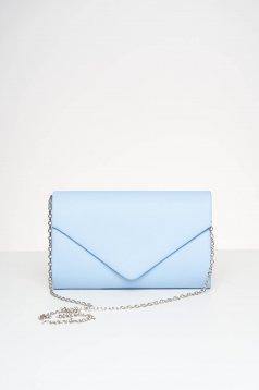 Geanta dama plic albastru-deschis de ocazie din piele ecologica