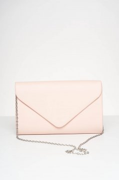 Lightpink bag occasional from ecological leather