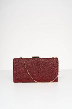 Red bag occasional with glitter details