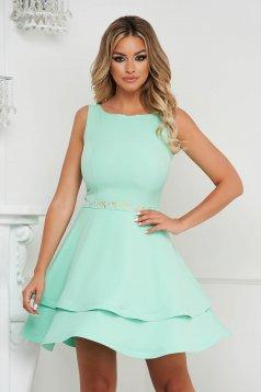 StarShinerS mint dress cloche short cut occasional cloth thin fabric