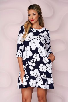 Dress short cut thin fabric nonelastic fabric with ruffles at the buttom of the dress loose fit