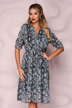 Dress cloche with elastic waist midi thin fabric from veil fabric detachable cord