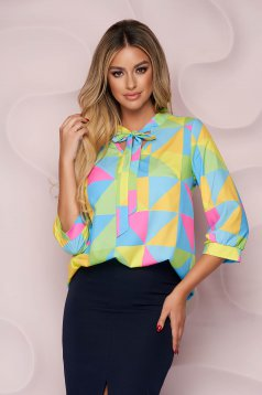 StarShinerS women`s blouse office loose fit with graphic details light material