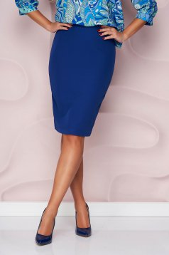 StarShinerS high waisted skirt office pencil cloth midi from elastic fabric