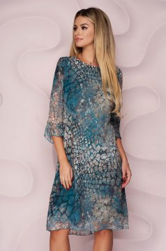 StarShinerS dress from veil fabric casual straight nonelastic fabric with graphic details