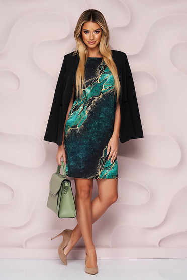 StarShinerS dress office straight nonelastic fabric with floral print